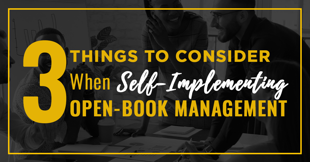 Self implementing open-book managment