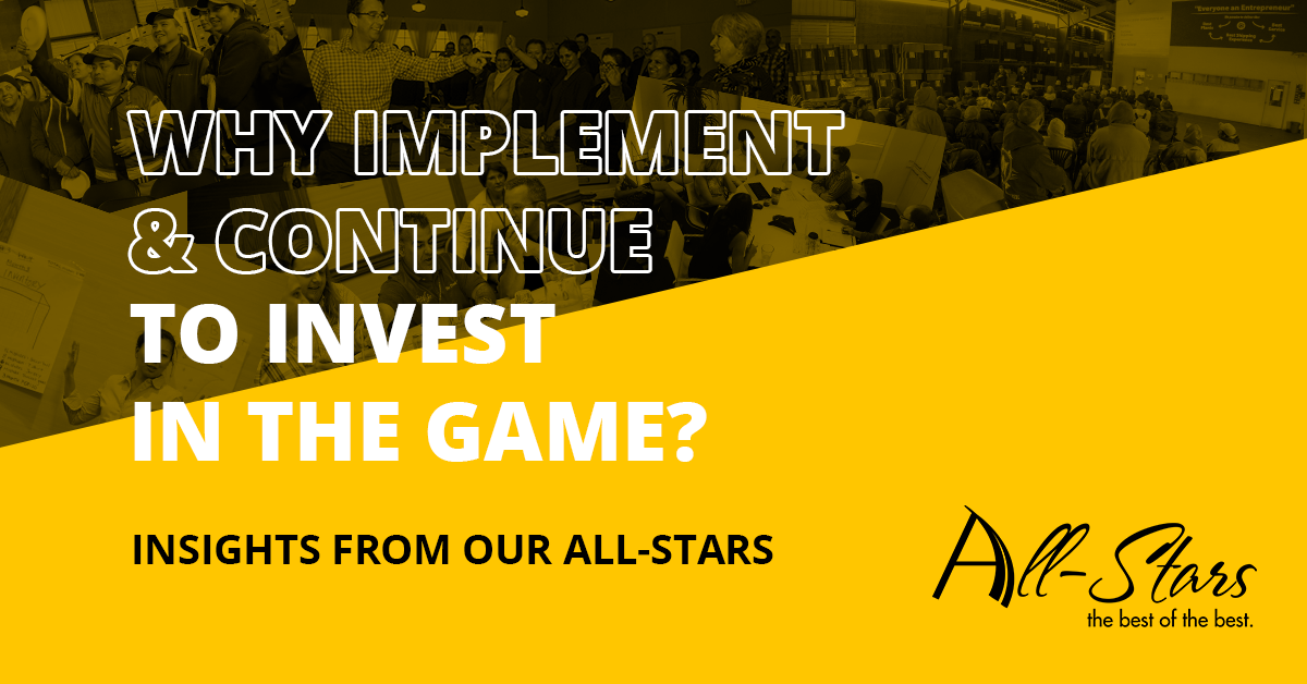 Why continue to invest in The Great Game of Business?