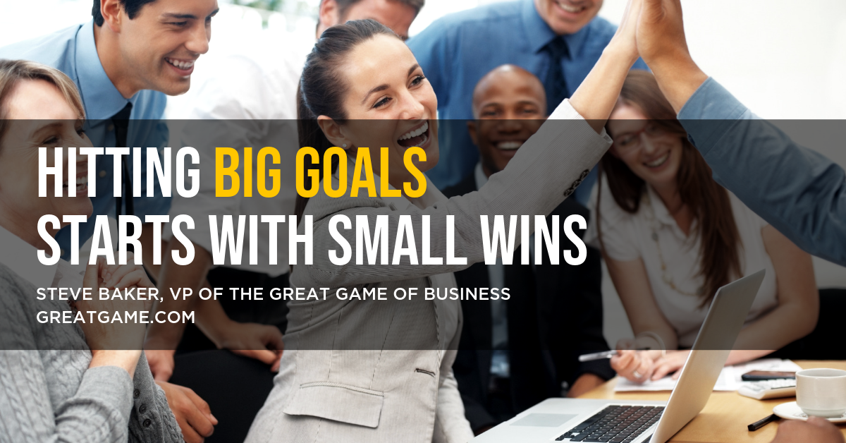 Hitting Big Goals starts with small wins
