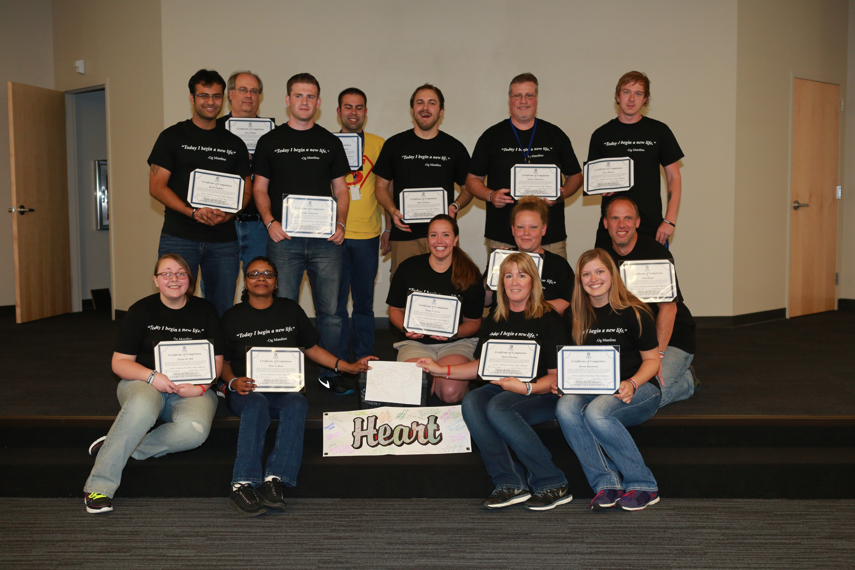 Practice Velocity employees holding certificates