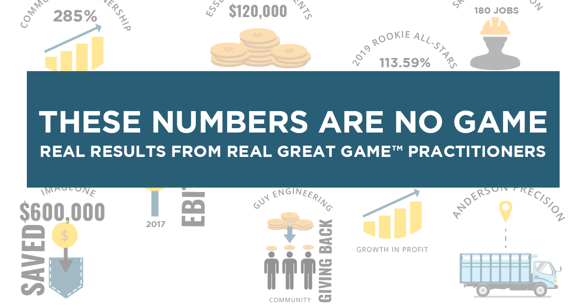 Great Game of Business results
