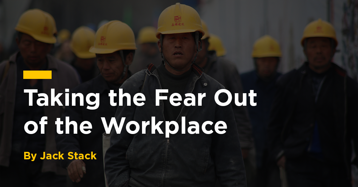 Taking the fear out of the workplace with open-book management
