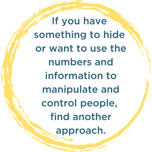 If you have something to hide or want to use the numbers and information to manipulate and control people, find another approach.
