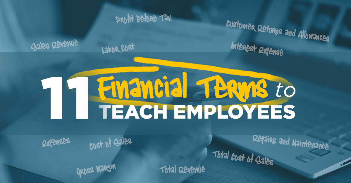 11 Financial Terms to Teach Employees