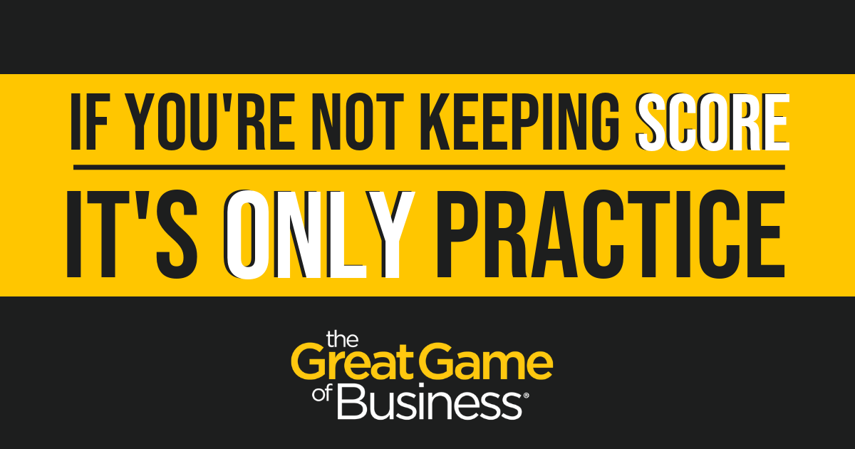 If You're Not Keeping Score, It's Only Practice