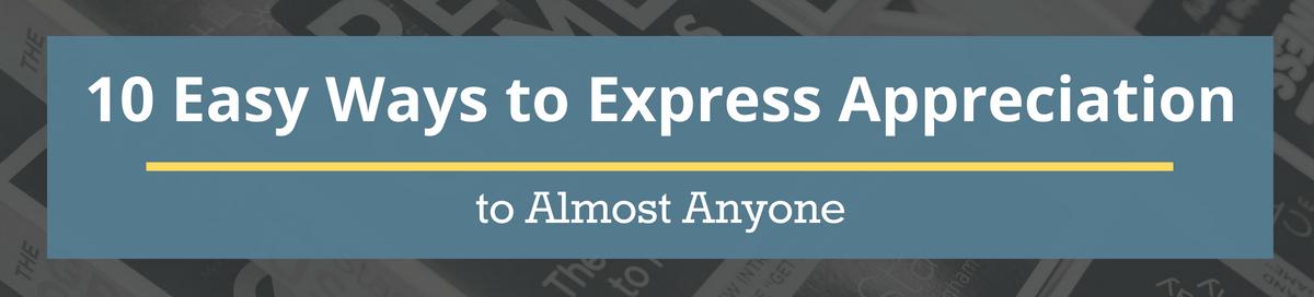 10 express appreciation