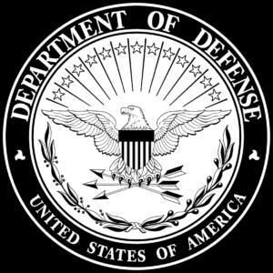 department of defense black logo